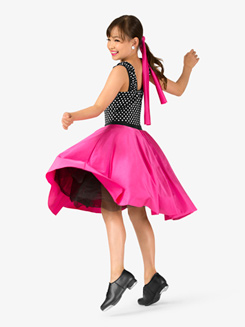 Girls Vintage Three-Tone Dance Costume Dress