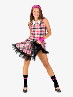 Womens Back to School Character Costume Tank Dress Set