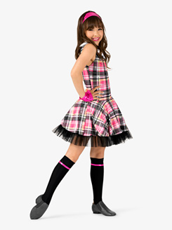 Girls Back to School Character Costume Tank Dress Set