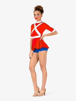Womens Toy Soldier Character Dance Shorty Unitard