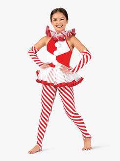 Girls Candy Cane Lane Striped Costume Set