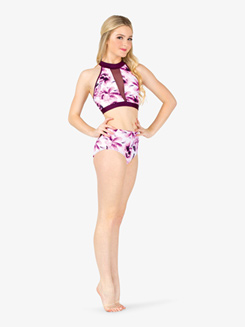 Womens Floral Dance Briefs