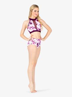 1d2e36f73785 was $49.00, Ella Womens Floral Tank Dance Crop Top Item: ELA9