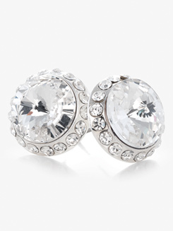 14mm Celestial Rhinestone Post Earrings