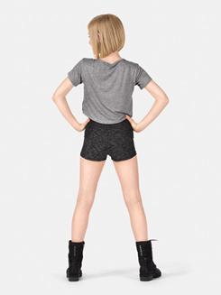 Girls Space Dye High Waist Shorts
