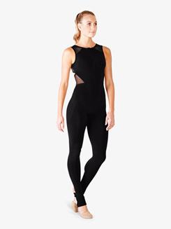 Ladies Mesh Crisscross Back Long Tank Jumpsuit