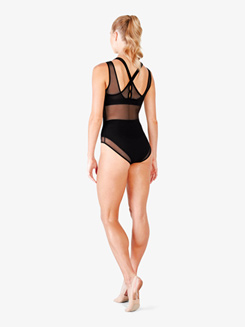 Ladies Rhoda See-Through Mesh Tank Leotard