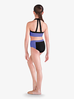 Girls Contrast High Waist Dance Brief
