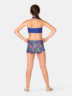 Child Printed Gymnastics Shorts