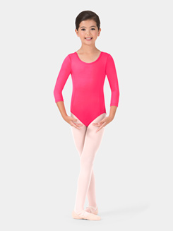 Girls Long Sleeve Trestle Back Leotard