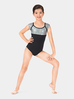 Child Cap Sleeve Mosaic Leotard