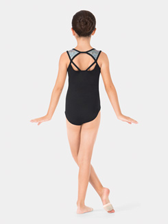 Child Strappy Back Mosaic Tank Leotard