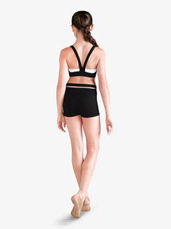 Girls Contrast V-Back Dance Bra Top