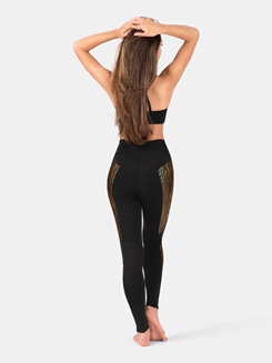 Adult Gold Metallic Insert Legging