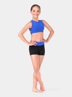 Girls Banded Color Block Dance Short