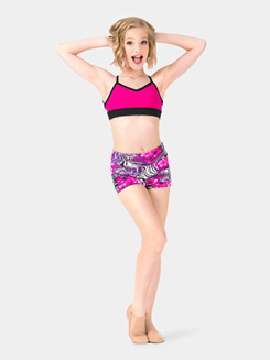Child Floral Zebra Dance Shorts
