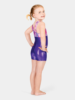 Child Gymnastic Two-Tone Biketard