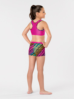 Girls Jungle Mania Gymnastics Racerback Tank Bra Top