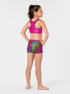 Girls Jungle Mania Gymnastics Shorts