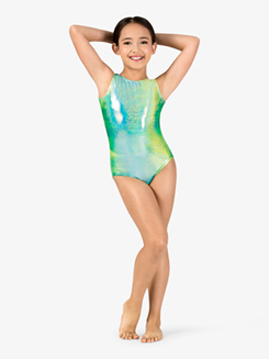Girls Gymnastics Twinkle Print Tank Leotard