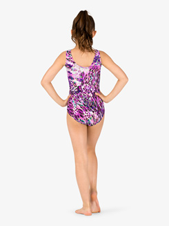 Girls Gymnastics Animal Print Tank Leotard