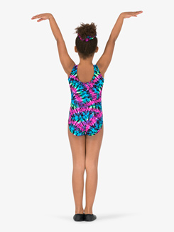 Girls Gymnastics Tie-Dye Tank Leotard