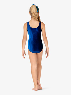Girls Gymnastics Basic Velvet Tank Leotard