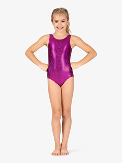 Girls Gymnastics Disco Print Tank Leotard