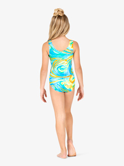 Girls Gymnastics Mirage Print Tank Leotard