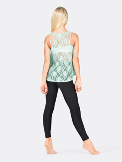 Girls Lace Back Hi-Low Tank Top