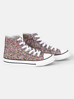 Adult Hi-Top Sparkle Sneaker