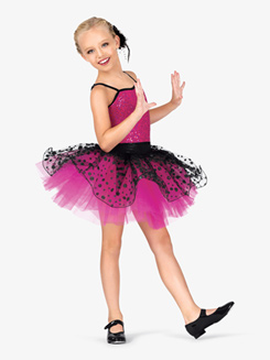 Girls Two-Tone Camisole Costume Tutu Dress