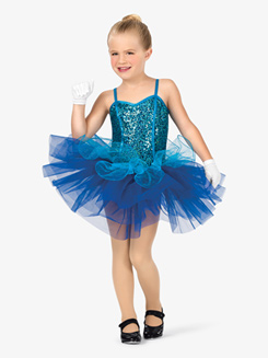 Girls Sequin Bodice Camisole Costume Tutu Dress
