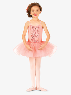 Girls Sweetheart Sequin Camisole Costume Tutu Dress