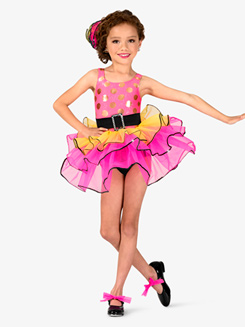 Girls Three-Tone Tank Costume Tutu Dress