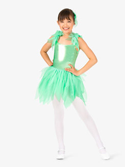 Girls Pixie Handkerchief Character Costume Tutu Dress