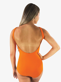 Womens Mandarin Low Strappy Front Tank Leotard