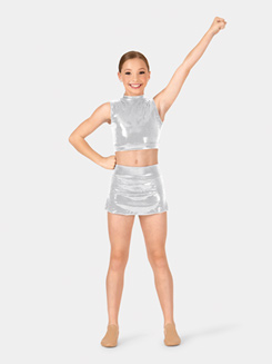 Girls Sequin Skirt with Briefs