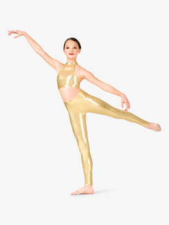 Girls Performance Metallic High Waist Leggings
