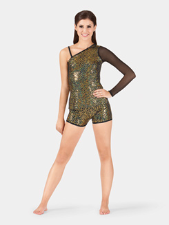 Adult Sequin Asymmetrical Tunic Top