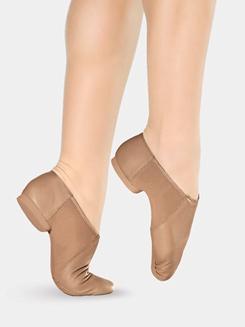 Girls Split Sole Slip On Jazz Shoes