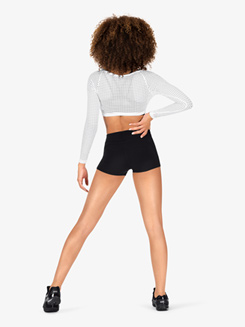 Womens Mesh Athletic Crop Top