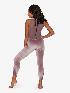 Womens All Zipped Up Full-Length Tank Dance Unitard