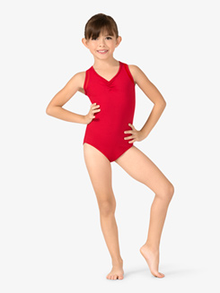 Girls Pinched Front Tank Leotard