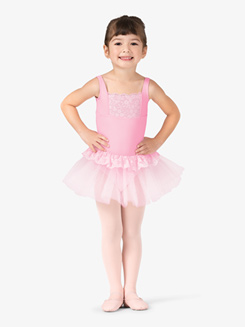Girls Lace Back Tank Ballet Tutu Dress