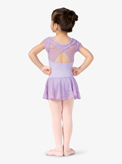 Girls Lace Cap Sleeve Ballet Dress