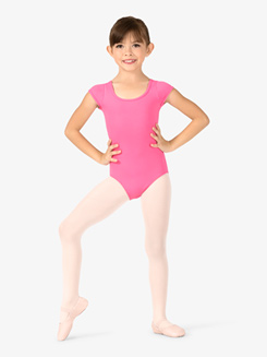 Girls X-Back Cap Sleeve Leotard