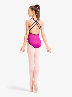 Womens Reversible Crisscross Camisole Leotard