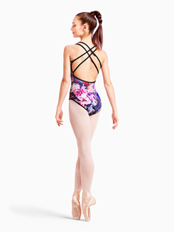 Womens Floral Print Reversible Camisole Leotard