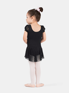 Girls Puff Sleeve Dance Dress